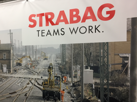 Strabag teams work